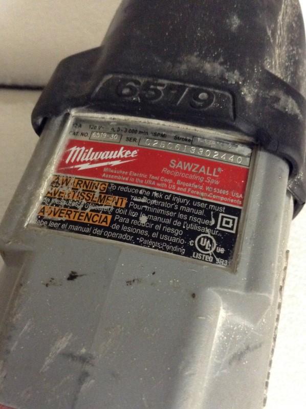MILWAUKEE Reciprocating Saw 6519-30