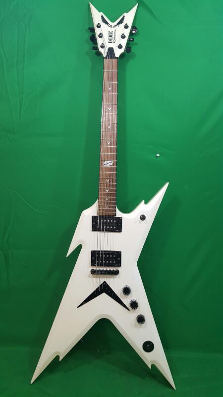 DEAN Dime Razorback Pearl White Electric Guitar 6-String Flying V