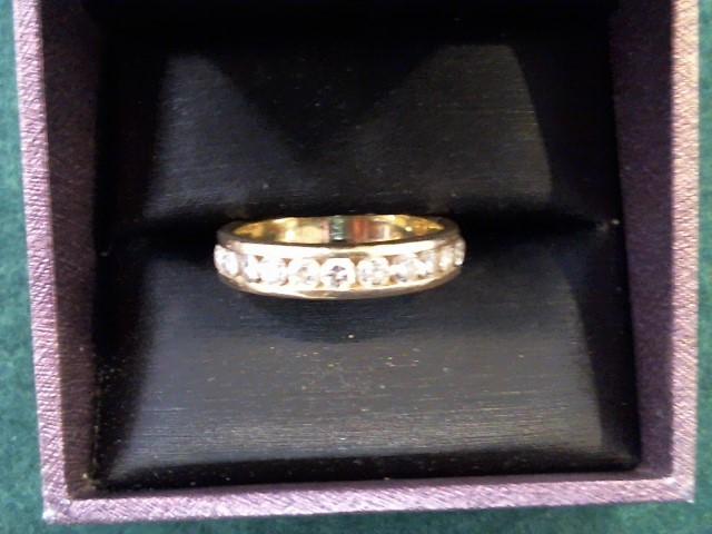 Gent's Gold-Diamond Wedding Band 11 Diamonds 1.65 Carat T.W. 14K Yellow Gold