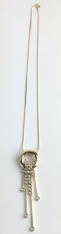 Diamond Necklace 26 Diamonds .26 Carat T.W. 18K Yellow Gold 9.96g