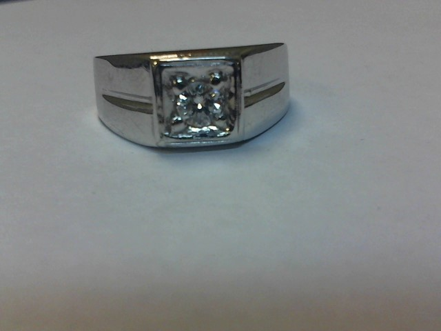 Gent's Diamond Fashion Ring .30 CT. 14K White Gold 5.4dwt