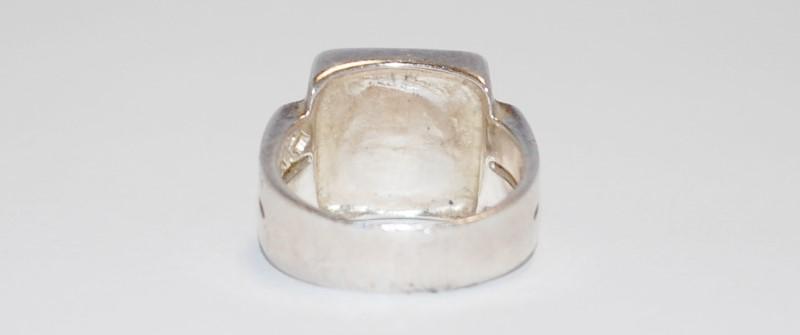 Women's Sterling Silver Bezel & Cabochon Ring Size