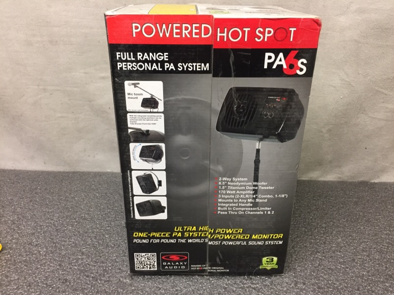 GALAXY AUDIO PA6S POWERED PERSONAL HOT SPOT MONITOR/PA SYSTEM