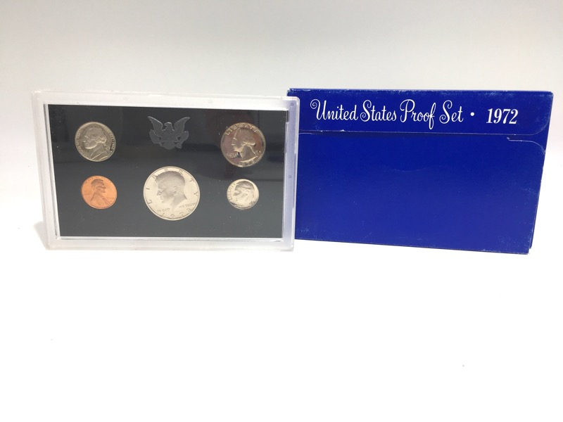 1972 S United States Proof Set - 5 Coins - In Mint Box