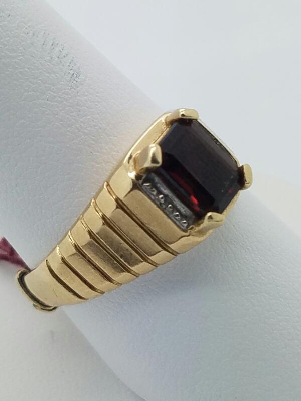 10KYG MNS #10 NUG RING,1.5 BLK STN