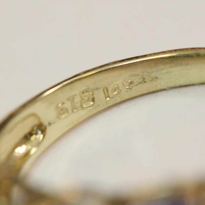 14K Yellow Gold Tanzanite Ring Size 5.75