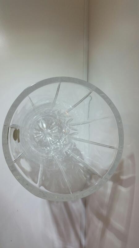 """Oneida Capri 24% Lead Crystal Diamond Pattern Vase 10"""""""