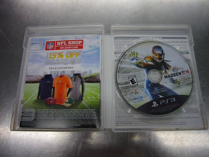 SONY PlayStation 3 Game NFL MADDEN 15