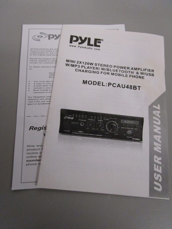 PYLE PCAU48BT MINI BLUE 2 X 120 WATT STEREO POWER AMPLIFIER