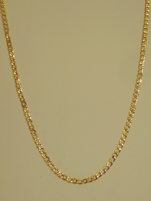"19.5"" Gold Curb Chain 14K Yellow Gold 2.6g"