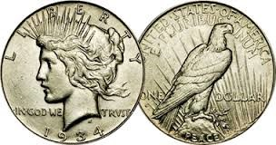 UNITED STATES Coin 1922 LIBERTY PEACE DOLLAR
