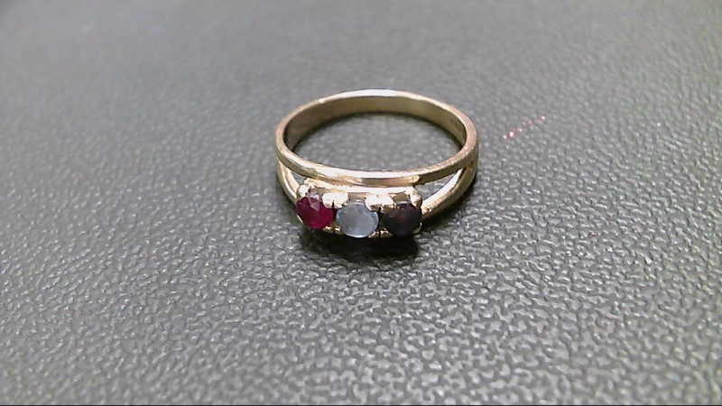 Blue Stone Lady's Stone Ring 14K Yellow Gold 3.2g