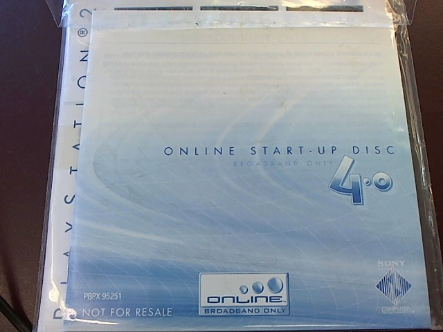 SONY PS2 ONLINE START UP DISC 4.0