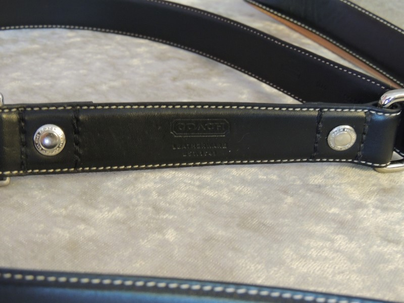 COACH BLACK LEATHER DOG LEASH 4' 4004 SMALL AUTHENTIC MINT