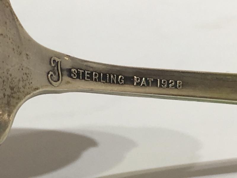 """Lady Diana by Towle 4-3/4"""" Sterling Silver Bon Bon Spoon c. 1928 MONO"""