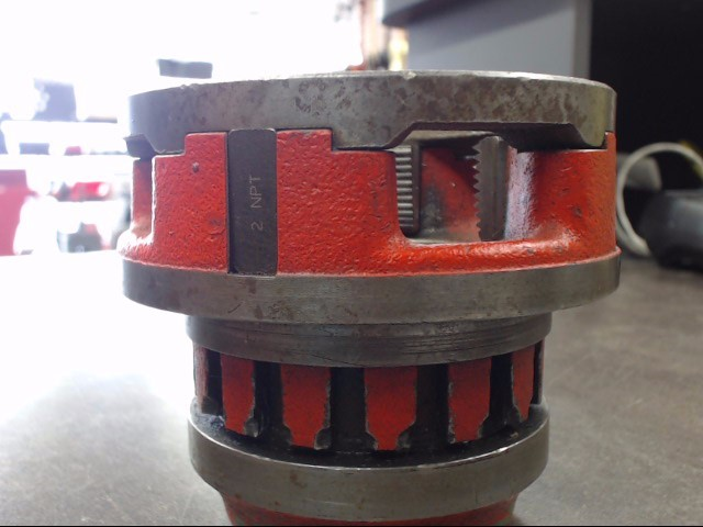 "RIDGID PIPE THREADER DIE HEAD 2"" THREAD STANDARD: NPT"