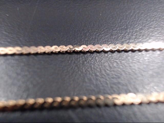Gold Herringbone Chain 14K Yellow Gold 4.2g