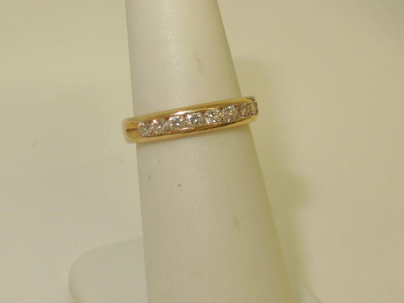 Lady's Diamond Engagement Ring 10 Diamonds .40 Carat T.W. 14K Yellow Gold 2.9g
