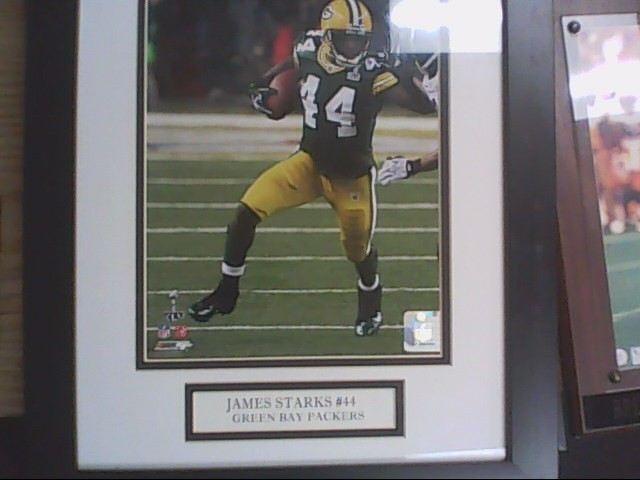 james starks framed photo