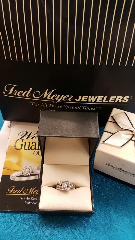 Lady's Diamond Wedding Set 1.5 Carat CTW White Gold - Size 6.75