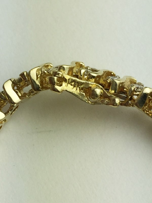 Diamond Tennis Bracelet 44 Diamonds 3.52 Carat T.W. 14K Yellow Gold 16.19g