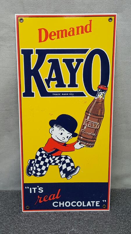 Kayo Chocolate Soda Tin Sign