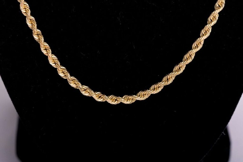 Gold Rope Chain 14K Yellow Gold 20.7g 20 Inch