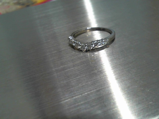 Lady's Gold-Diamond Anniversary Ring 9 Diamonds .45 Carat T.W. 14K White Gold