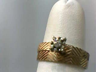 Lady's Diamond Wedding Set .05 CT. 10K Yellow Gold 1.8dwt Size:6