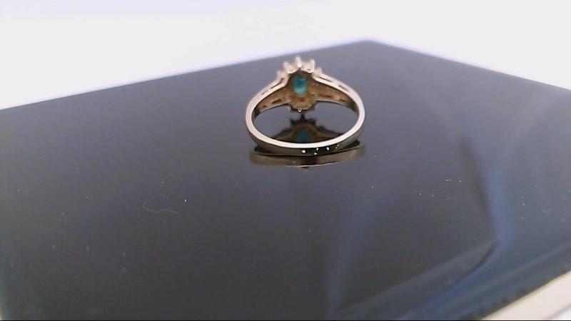 Ladies Genuine 5/8ct. Emerald & 1/8ct tw Diamond Ring 14k yellow gold