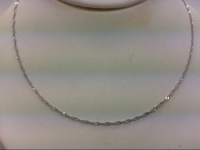 "20"" Gold Chain 14K White Gold 1.7g"