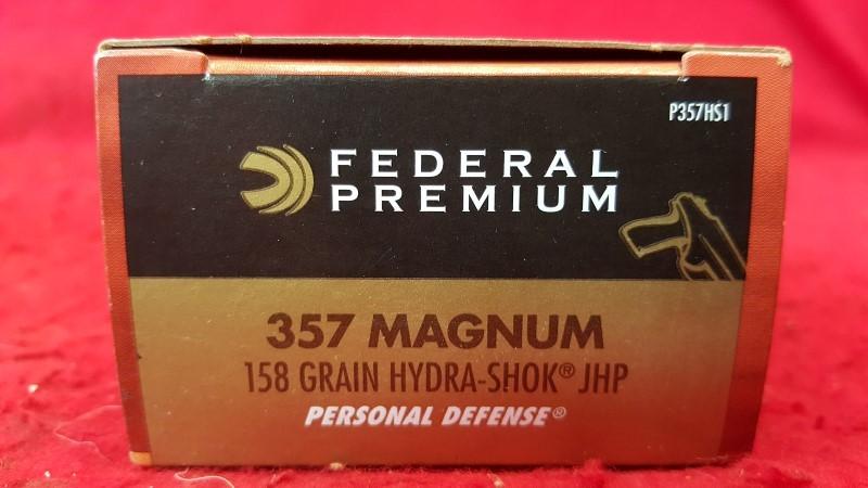 FEDERAL AMMUNITION Ammunition PREMIUM 357 MAGNUM PREMIUM 357 MAGNUM