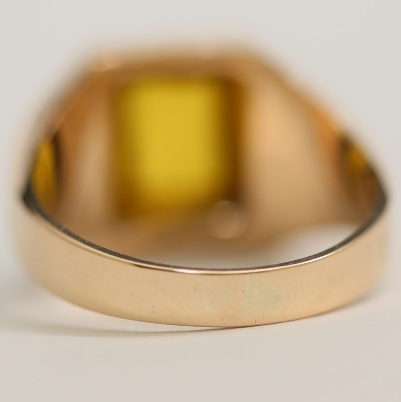 10K Yellow Gold Synthetic Citrine Ring Size 10