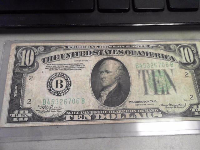 UNITED STATES Paper Money - World 1934 A $10 BILL