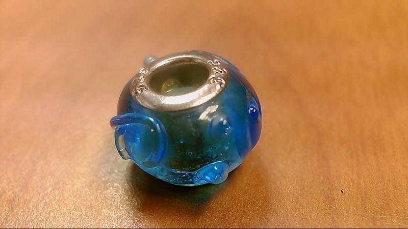 Camilia Designed Blue Glass Bead 925 Silver