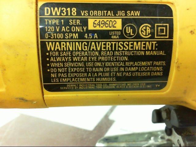 DEWALT Jig Saw DW318