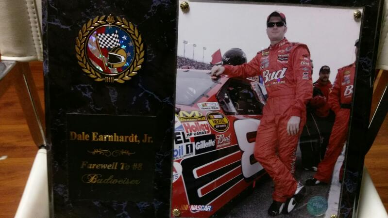 DALE EARNHARDT JR FAREWELL TO #8 PLAQUE