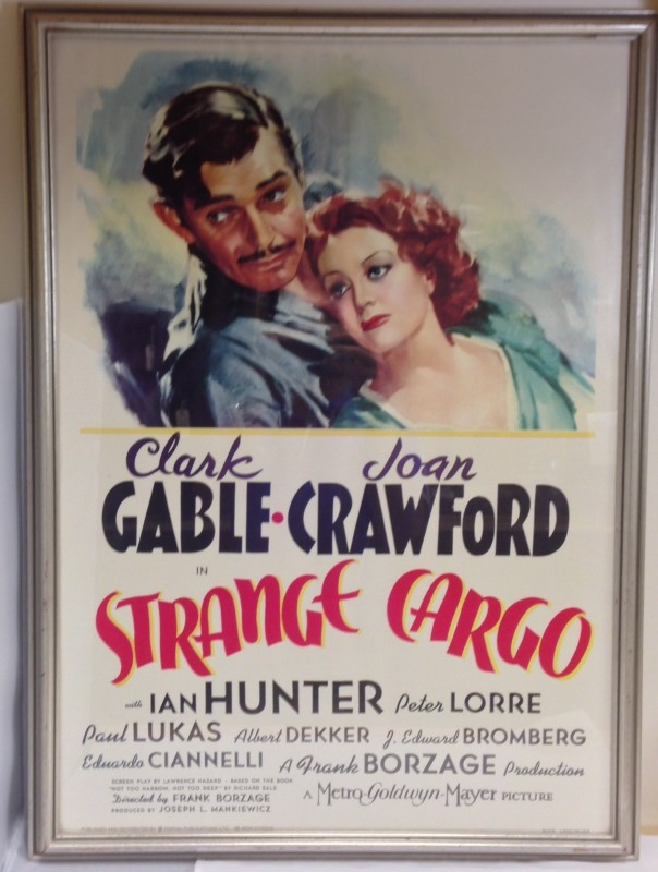 STRANGE CARGO FRAMED MOVIE POSTER PORTAL PUBLICATIONS LITHOGRAPH M076