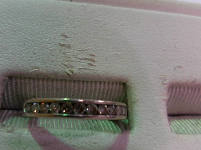 Lady's Diamond Wedding Band 12 Diamonds .36 Carat T.W. 14K White Gold 1.9g
