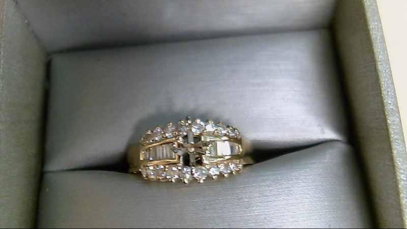 Lady's Diamond Engagement Ring 30 Diamonds .64 Carat T.W. 14K Yellow Gold 4.8g