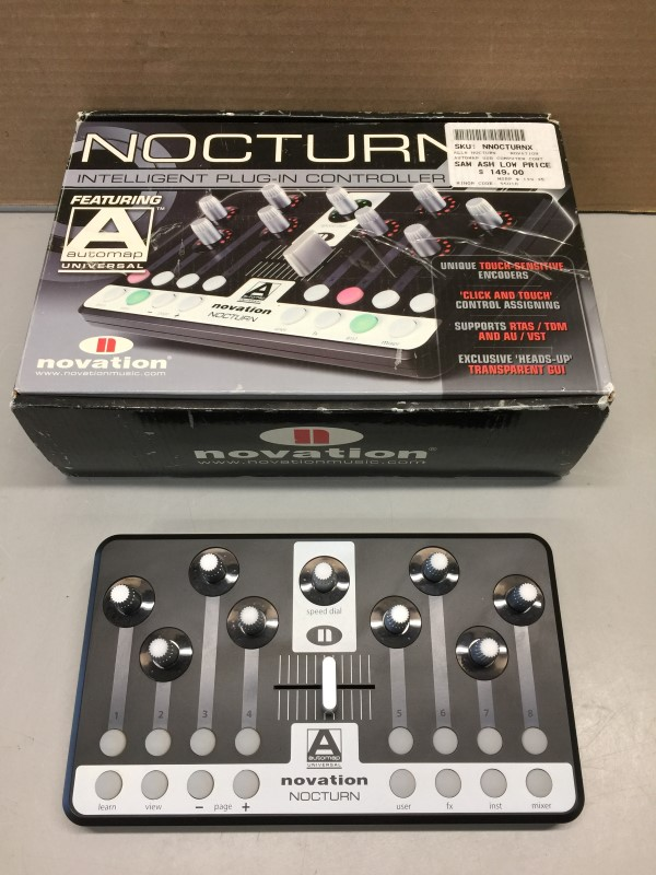 NOVATION NOCTURN INTELLIGENT PLUG-IN CONTROLLER W/AUTOMAP UNIVERSAL
