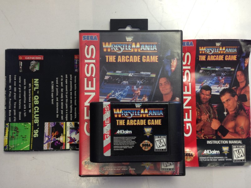 WWF WrestleMania: The Arcade Game (Sega Genesis, 1995) Complete
