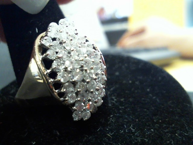 Lady's Diamond Fashion Ring 42 Diamonds .42 Carat T.W. 10K Yellow Gold 4.9g