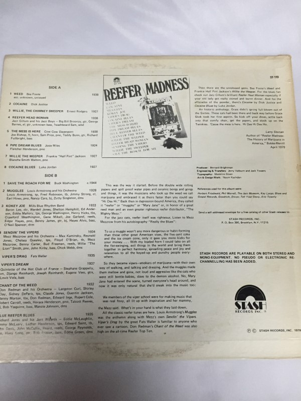 STASH RECORDS REEFER MADNESS RECORD