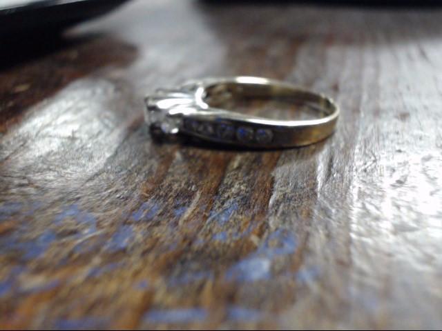 Lady's Diamond Cluster Ring 13 Diamonds 1.00 Carat T.W. 14K White Gold 4g