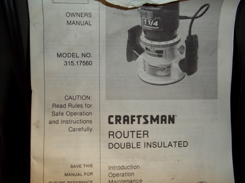 CRAFTSMAN 1 1/4HP ROUTER