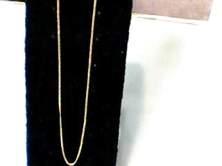 "18"" Gold Curb Chain 18K Yellow Gold 1.4dwt"