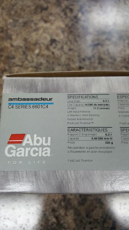 Abu Garcia 6601C4 Ambassadeur LH Cast Reel 6.3:1 6601 C4