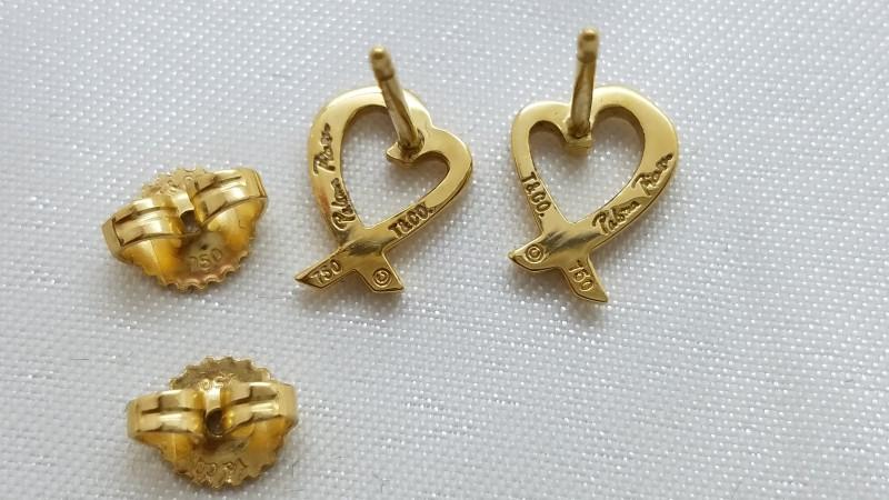 Tiffany & Co. Gold Earrings 18K Yellow Gold 2g