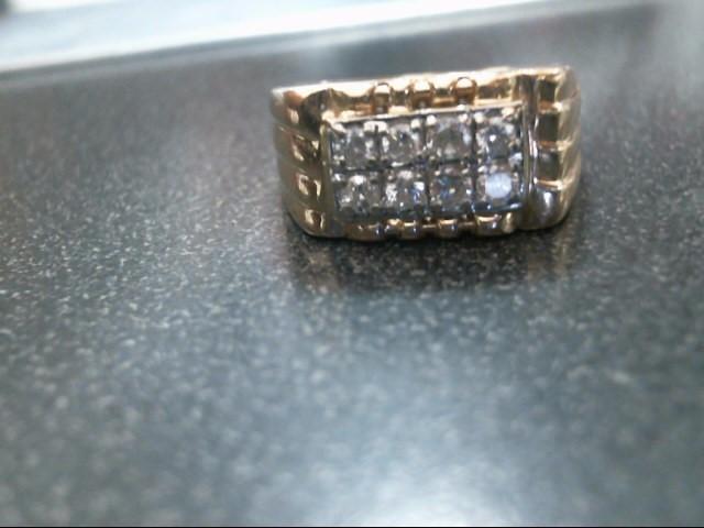 Gent's Diamond Fashion Ring 8 Diamonds .48 Carat T.W. 14K Yellow Gold 8.1g